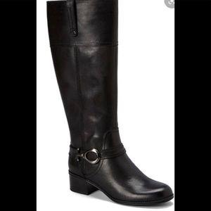 Bandolino black leather Carly boots size 10